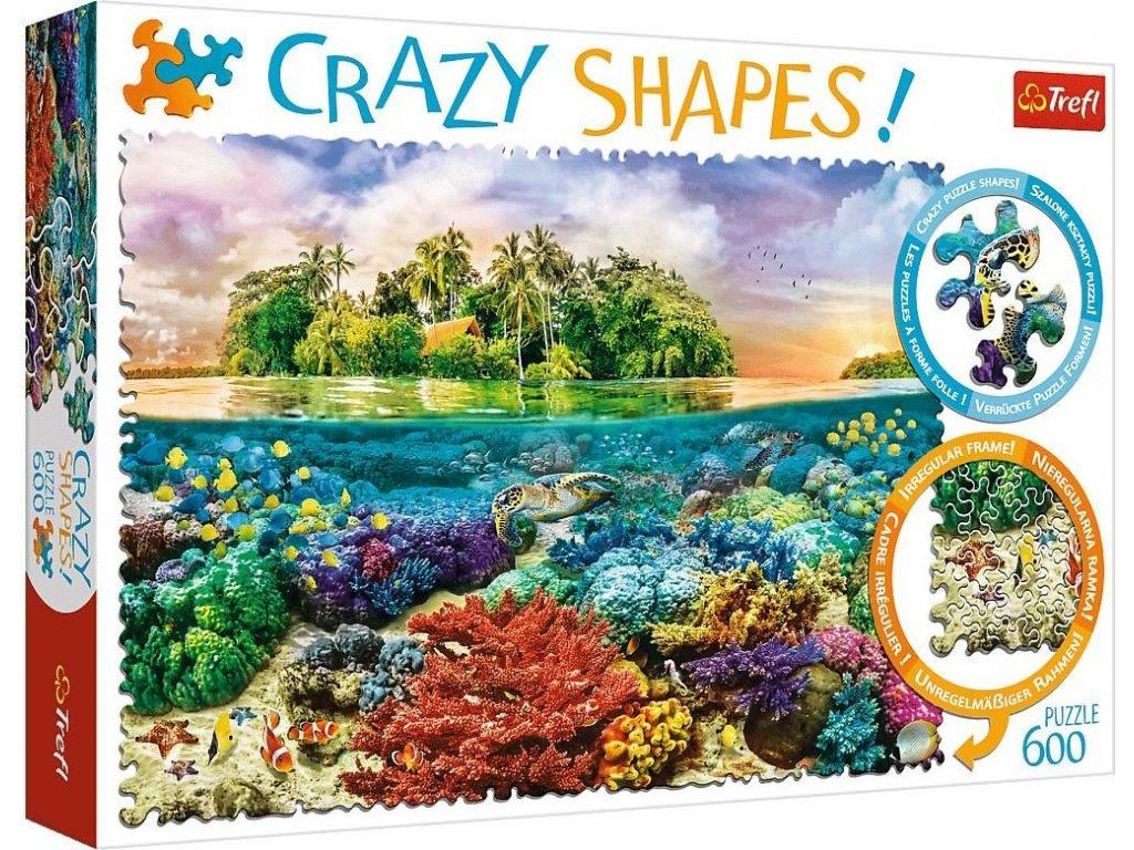 TREFL Crazy Shapes puzzle Tropický ostrov 600 dílků
