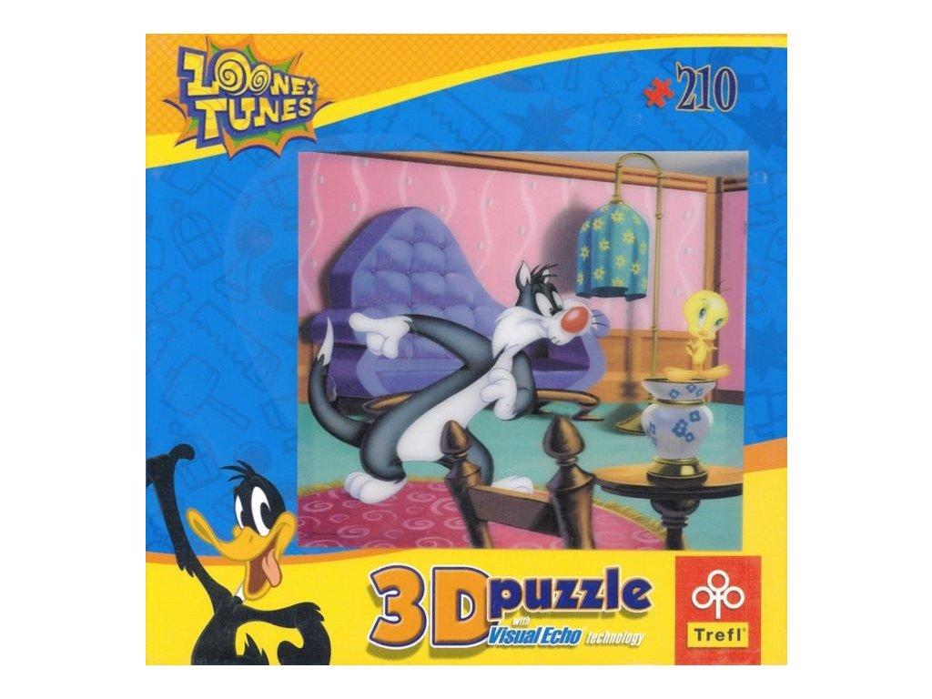 TREFL Puzzle Looney Tunes 3D 210 dílků