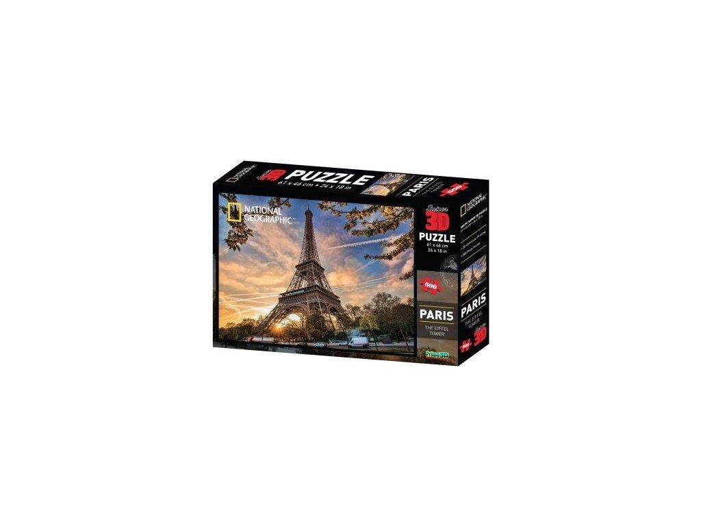 PRIME 3D Puzzle Eiffelova věž, Paříž 3D 500 dílků