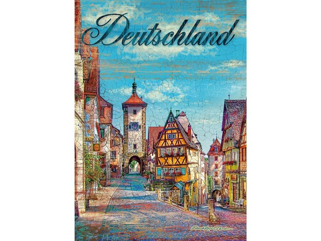 SCHMIDT Puzzle Rothenburg ob der Tauber, Německo 1000 dílků