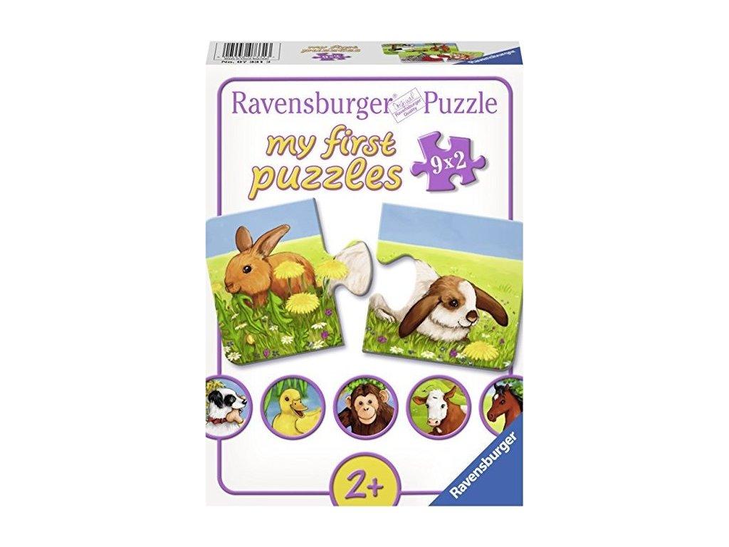 RAVENSBURGER Moje první puzzle Roztomilá zvířátka 9x2 dílky