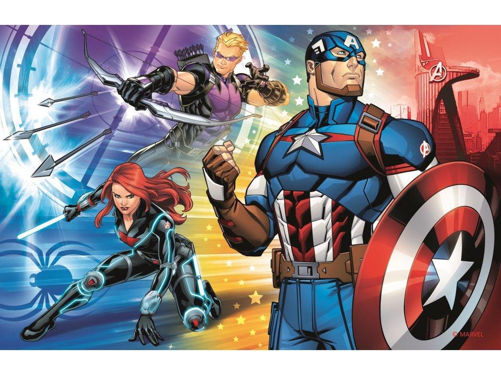 TREFL Puzzle Avengers: Kapitán Amerika 54 dílků