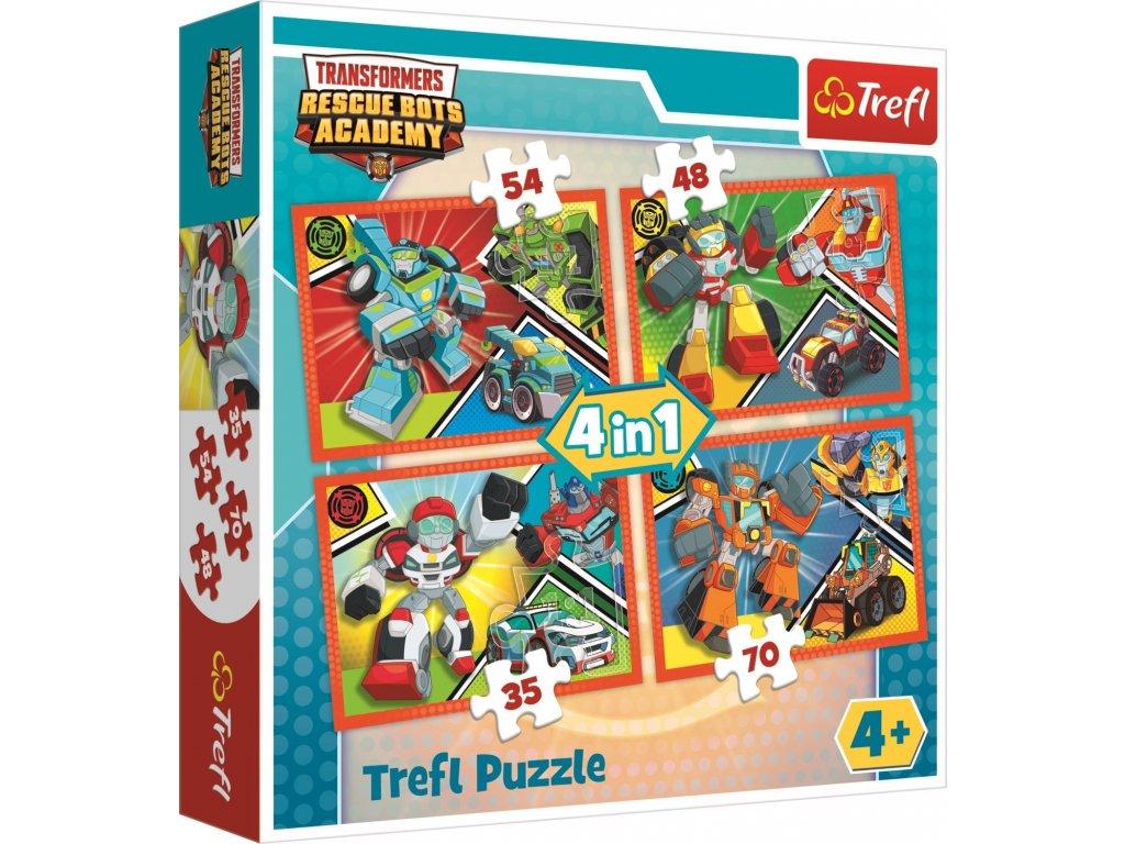 TREFL Puzzle Transformers 4v1 (35,48,54,70 dílků)