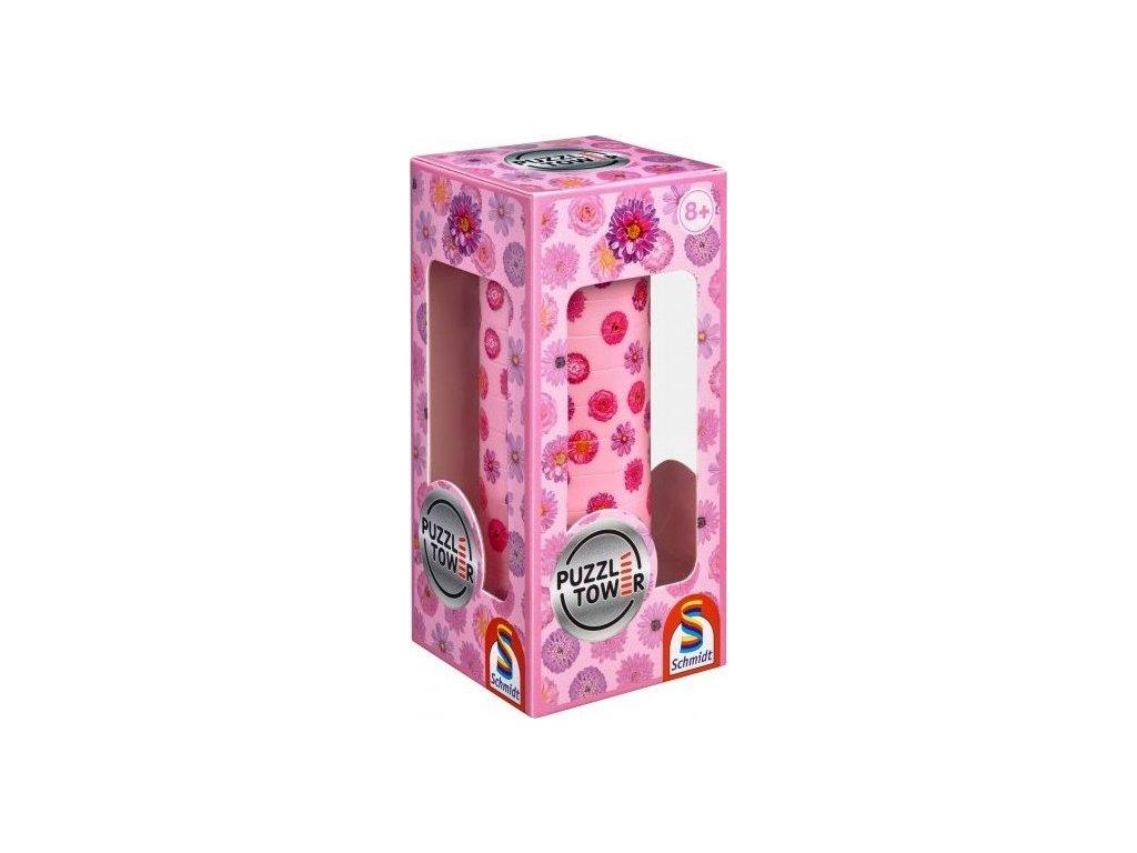 SCHMIDT Magnetické 3D Puzzle Tower Květiny