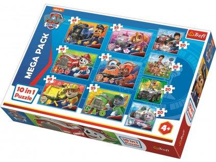 TREFL Puzzle Tlapková patrola 10v1