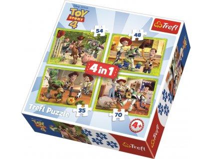 TREFL Puzzle Toy Story 4: Příběh hraček 4v1 (35,48,54,70 dílků)