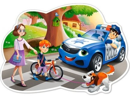 CASTORLAND Puzzle Policie ve službě MAXI 12 dílků