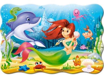 CASTORLAND Puzzle Malá mořská víla MAXI 20 dílků