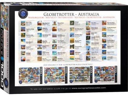EUROGRAPHICS Puzzle Světoběžník - Austrálie 1000 dílků