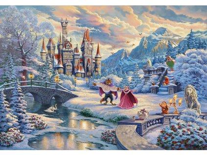 SCHMIDT Puzzle Kráska a zvíře: Zimní kouzlo 1000 dílků