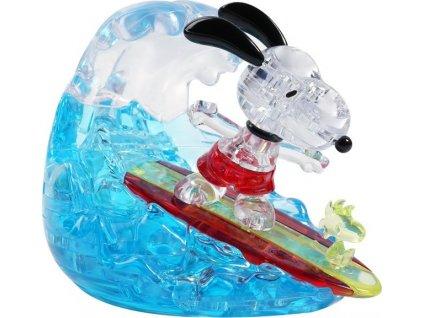 HCM KINZEL 3D Crystal puzzle Surfující Snoopy 41 dílků