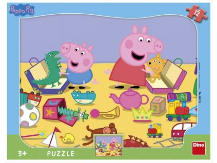 DINO Puzzle Prasátko Peppa: Tvary 12 dílků