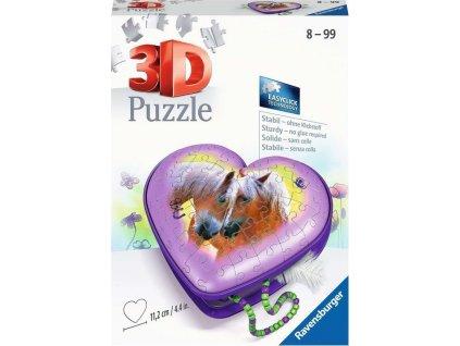 RAVENSBURGER 3D puzzle Srdce Koně 54 dílků