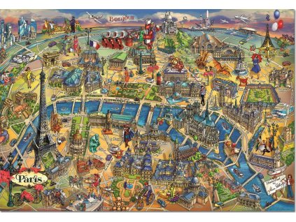 EDUCA Puzzle Mapa Paříže 500 dílků