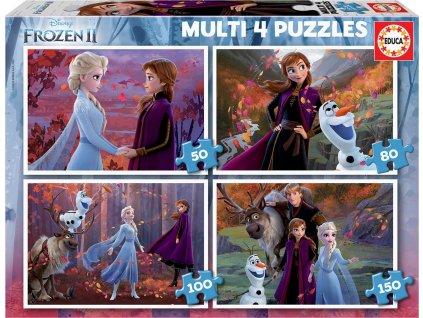 EDUCA Puzzle Ledové království 2, 4v1 (50,80,100,150 dílků)