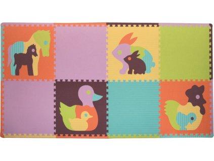BABY GREAT Pěnové puzzle Zvířata SX (60x60) s okraji