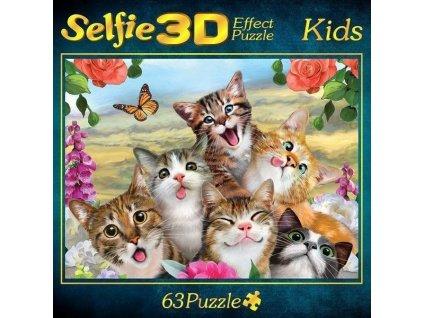 M.I.C. Puzzle Kočičí selfie 3D 63 dílků