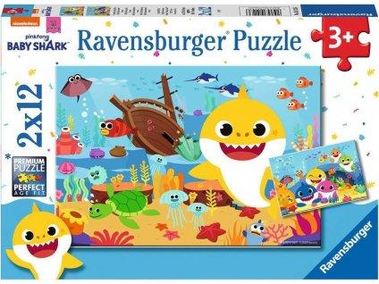 RAVENSBURGER Puzzle Baby Shark 2x12 dílků