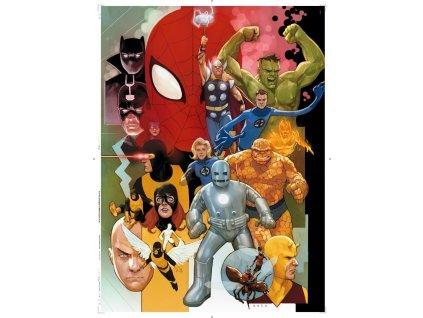 CLEMENTONI rozbalený obal: Puzzle 80 let Marvelu 1000 dílků
