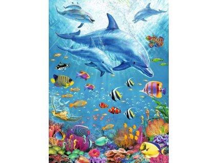 RAVENSBURGER Puzzle Mezi delfíny XXL 100 dílků