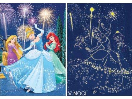 DINO Svítící puzzle Princezny XL 100 dílků