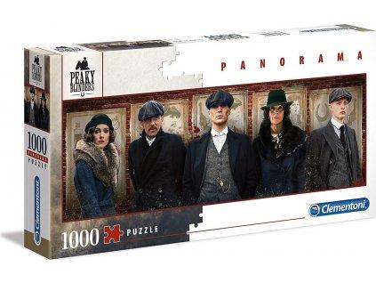 CLEMENTONI Panoramatické puzzle Gangy z Birminghamu 1000 dílků
