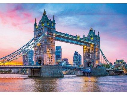 CLEMENTONI Puzzle Západ nad Tower Bridge 1500 dílků