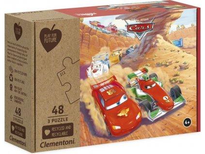 CLEMENTONI Play For Future Puzzle Auta 3x48 dílků