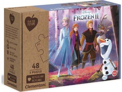 CLEMENTONI Play For Future Puzzle Ledové království 2, 3x48 dílků