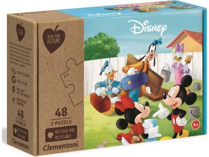 CLEMENTONI Play For Future Puzzle Mickey Mouse 3x48 dílků