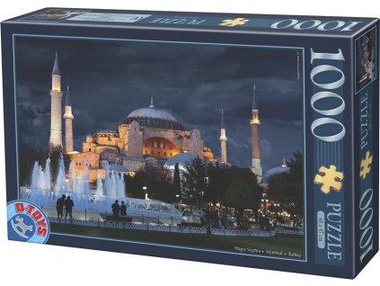 D-TOYS Puzzle Noční Hagia Sophia, Istanbul 1000 dílků