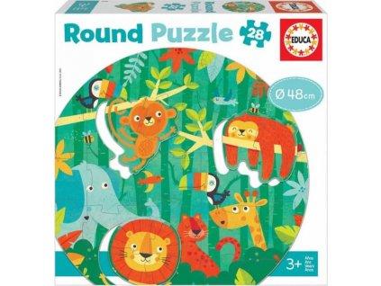 EDUCA Kulaté puzzle Džungle 28 dílků