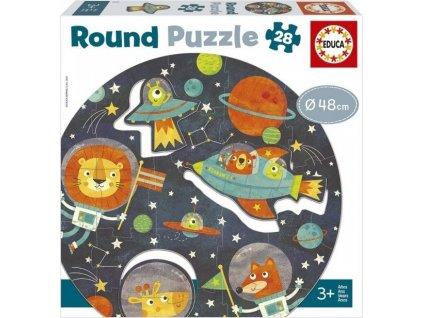 EDUCA Kulaté puzzle Vesmír 28 dílků