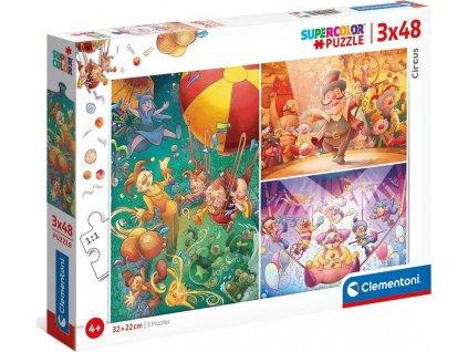 CLEMENTONI Puzzle Cirkus 3x48 dílků