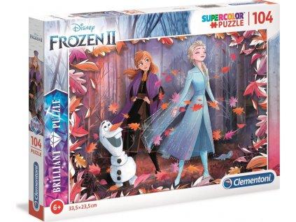CLEMENTONI Briliant puzzle Ledové království 2, 104 dílků