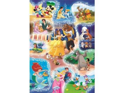 CLEMENTONI Puzzle Disney: Je čas tančit 104 dílků