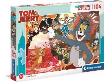 CLEMENTONI Puzzle Tom a Jerry: Dort 104 dílků