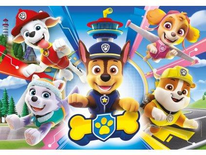 CLEMENTONI Puzzle Tlapková patrola: Hrdinové 104 dílků