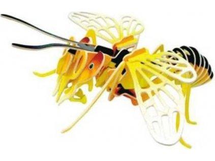 WOODEN TOY , WCK 3D puzzle Včela barevná velká
