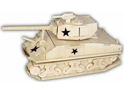 WOODEN TOY , WCK 3D puzzle Tank M4 Sherman Fury