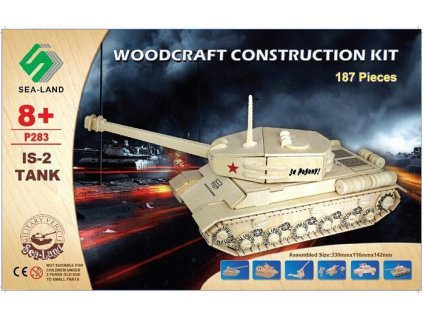WOODEN TOY , WCK 3D puzzle Tank IS-2