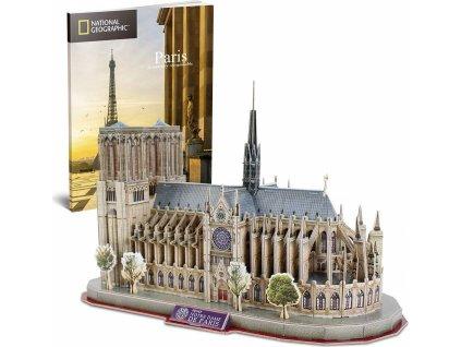 CUBICFUN 3D puzzle National Geographic: Katedrála Notre-Dame 128 dílků