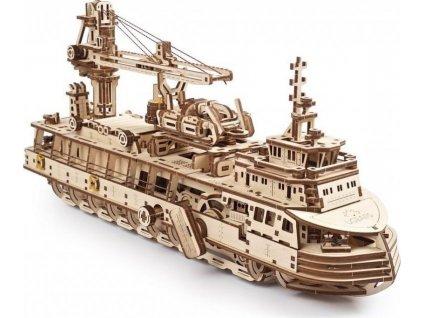 UGEARS 3D puzzle Výzkumný parník 575 dílků
