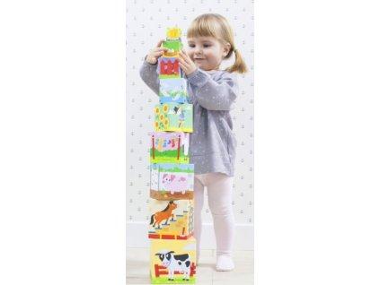 TREFL Baby edukativní kostky Farma