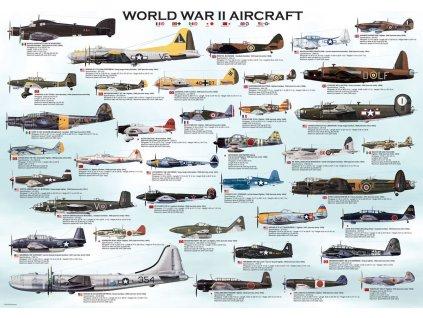 EUROGRAPHICS Puzzle Letadla 2.světové války 1000 dílků