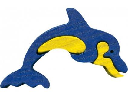 FAUNA Dřevěné puzzle Delfín malý