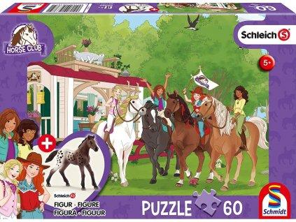 SCHMIDT Puzzle Schleich Setkání 60 dílků + figurka Schleich