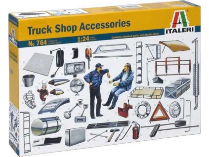 Model Kit doplňky 0764 - TRUCK ACCESSORIES (1:24)