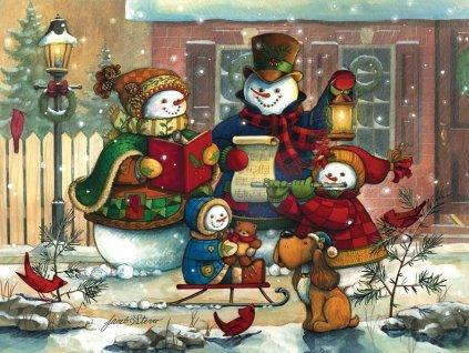 COBBLE HILL Rodinné puzzle Vánoční koleda 350 dílků