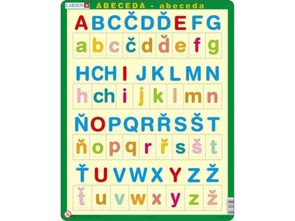 LARSEN Puzzle Abeceda - malá a velká písmenka 34 dílků